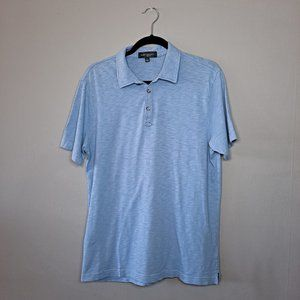 Robert Barakett Blue Cotton Polo Shirt Large